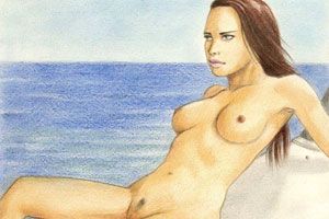 Adriana Lima nude cartoon movie 2